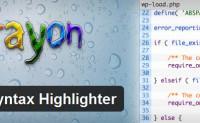 wordpress官方推荐最好的语法高亮插件Crayon Syntax Highlighter